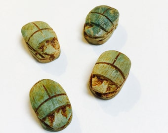 Scarab Beetle Beads - 4 Pieces - #513