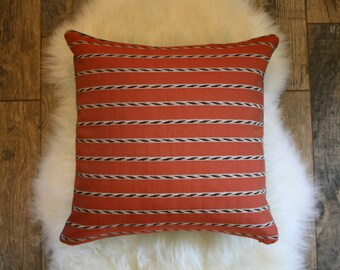 Burnt Orange + Denim Pillow Cover