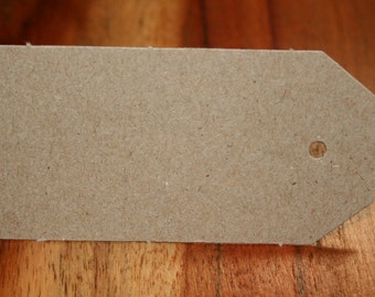10, 25, 50 or 100 recycled kraft card blank gift tags