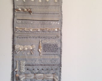 Wall hanging in beadwork to the hook of Lunéville - Wallart - Wallhanging