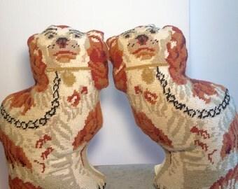 Vintage Decorative Stuffed Dogs