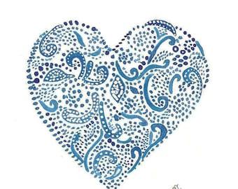 Heart Stationery Design