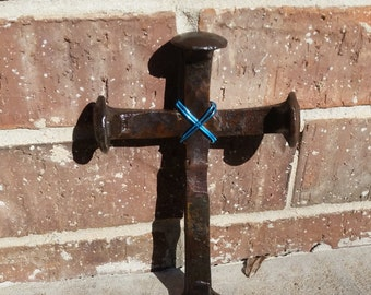 Small Railroad Spike Cross