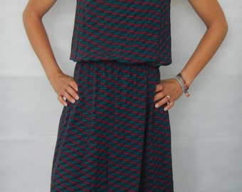 Summer dress, asymmetrical pattern