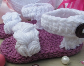 Shoes Sandals for baby girl crochet slippers gift by EffiChouchouCrochet