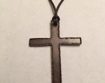 Men's Copper Cross Necklace
