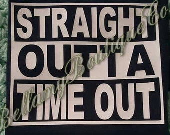 Straight Outta Time Out,Kids shirt