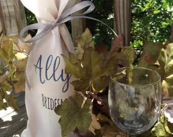 Personalized Wine Gift Bag