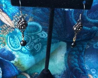 Black Rose Dangle Earring