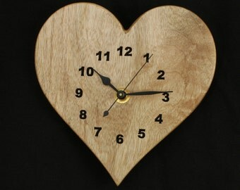 Myrtlewood Heart Wood Wall Clock