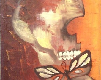 Skull and a butterfly