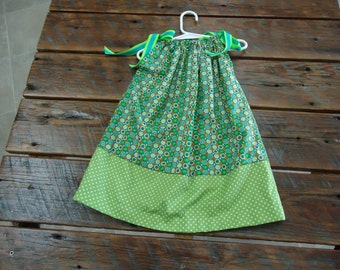 Multi Green Dress - Size 4T
