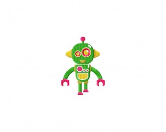Mini walking robot embroidery design, robot embroidery design,stitched robot embroidery, toy embroidery design, embroidery toy