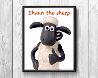 Shaun the sheep.Shaun the sheep posters Shaun the sheep print, poster for Children,