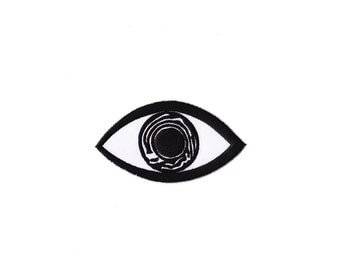 Eye Patch - Eye Embroidered Iron on Patch  - Eye  Iron on Applique