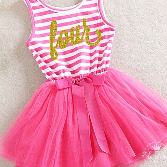 Fourth Birthday Outfit 4th Birthday Dress Tutu Dress With