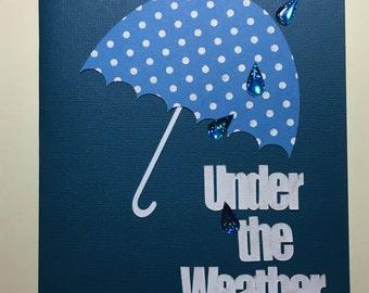 Umbrella, Get Well, Under the Weather, rain drops