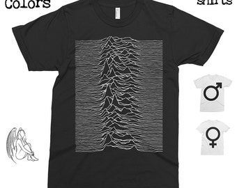 Joy Division - Unknown Pleasures T-shirt, Tee, American Apparel, Music, Rock, Retro, Ian Curtis, Punk, , Cute Gift