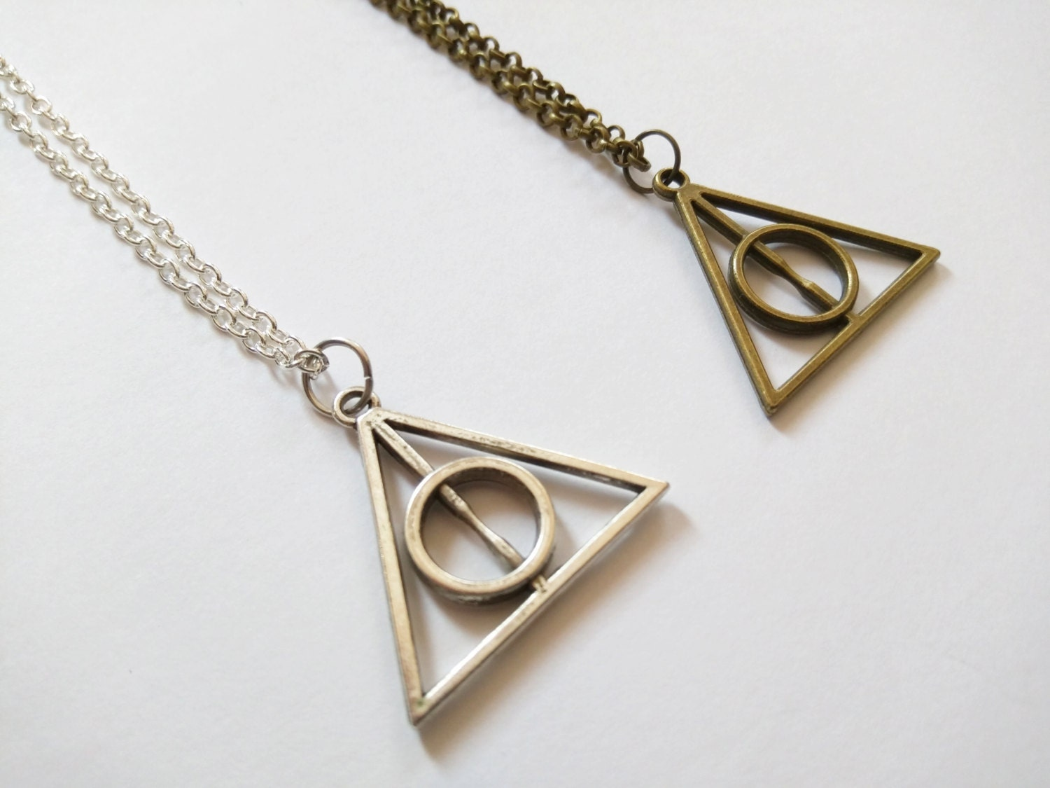 deathly hallows inspired harry potter necklace