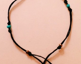 Wax Rope Beach Anklet