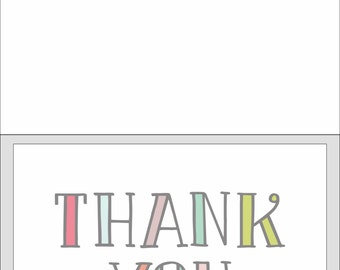 Colorful Thank You