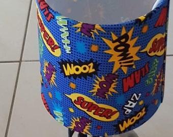 Superhero Action Words Boy Girl Baby Children Nursery Touch Lamp