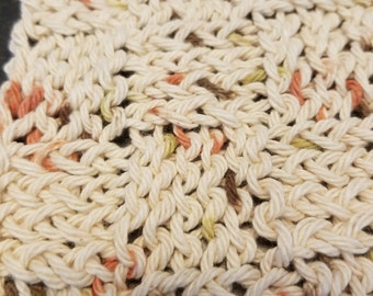 Neutral-toned Knit Dishcloths - Set of 3
