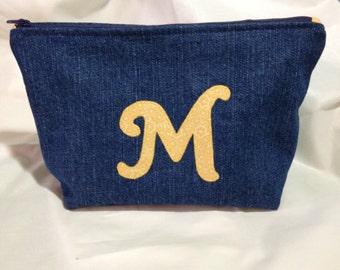 Personalized Denim Zippity Bag