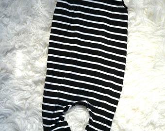 Long striped playsuit, romper, onesie