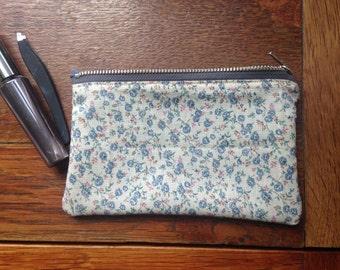 Handmade Purse Vintage & Upcycled Fabric Floral Silk