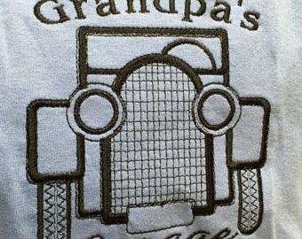 "Embroidered ""I Love Grandpa's Garage"" Bodysuit or Shirt"