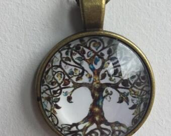 Tree of life tibetan bronze chain pendant necklace