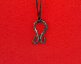 Hand forged Troll Cross Necklace