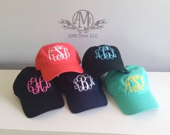 Monogram womens baseball cap, personalized baseball cap, monogrammed gifts, personalized womens hat