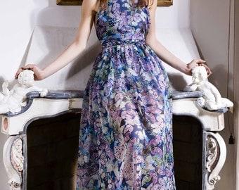Silk dress with fancy handmade Butterfly