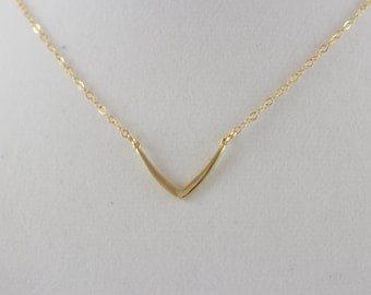 20% Off 14K Gold Fill Boomerang Charm Necklace BP4062