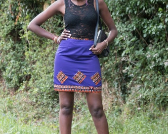 mini skirt, women's skirt, African print skirt, plain skirt, skirt, simple skirt, casual skirt