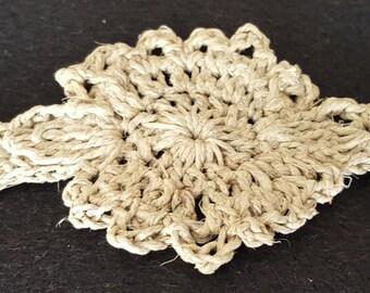 Natural Crochet Hemp Sunburst Bracelet