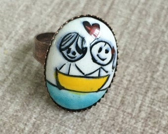 Hand made , adjustable rings. Adorable! A must have!
