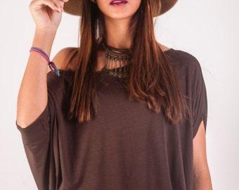 Wide blouse in Viscolycra - Blusa Ampla em Viscolycra