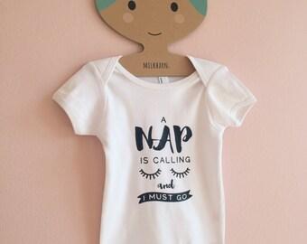 NAP IS CALLING baby onesie romper / baby bodysuits
