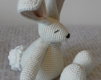 Crochet rabbit toy