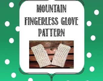 Mountain Fingerless Glove Pattern