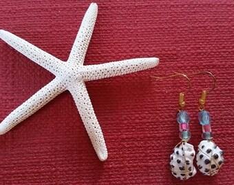 Beaded Hawaiian Shell Earrings