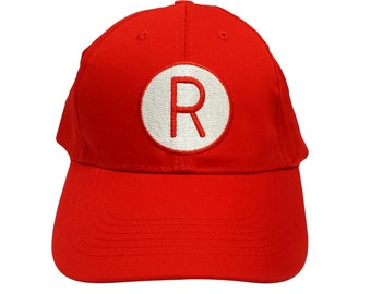 Rockford Peaches Baseball Cap Like The R Hat Worn In A League Of Their Own Movie Costume Player 90s Dottie Hinson Kit Keller Jimmy Dugan Red