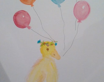 Duckling and Balloons
