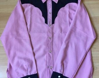 Western Shirt Pink & Blue