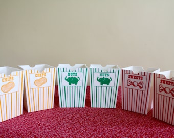 Vintage Theatre Style Treat Cartons