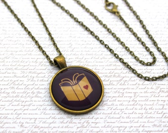 Love Story, Open Book, Book Cover, Reading Necklace or Keychain, Keyring