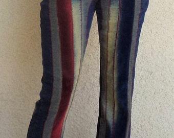 Funky Corduroy and Denim Pants
